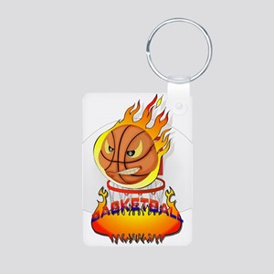 Basketball Aluminum Photo Keychain