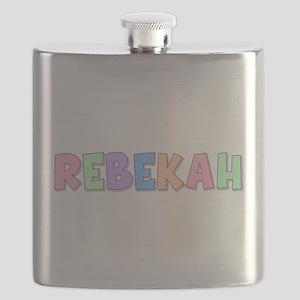 Rebekah Rainbow Pastel Flask