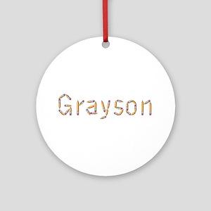 Grayson Pencils Round Ornament