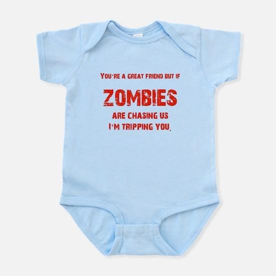 Zombies Chasing us! Infant Bodysuit