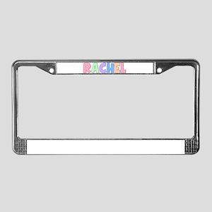 Rachel Rainbow Pastel License Plate Frame