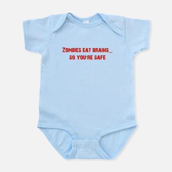 Zombies eat Brains! Infant Bodysuit