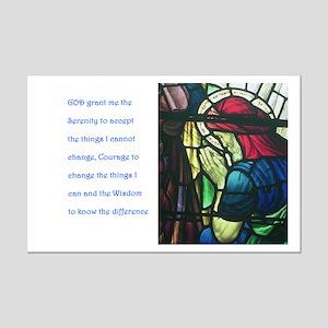 Framed Serenity Prayer Mini Poster Print
