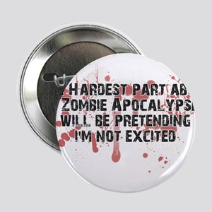 "Zombie Apocalypse? Yes please! 2.25"" Button"