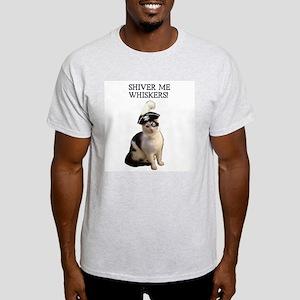 Pirate Cat 2 Ash Grey T-Shirt