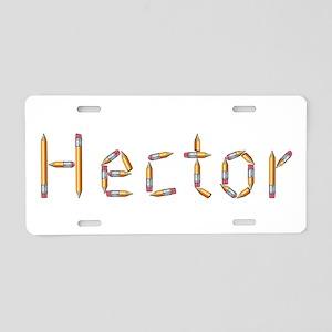Hector Pencils Aluminum License Plate