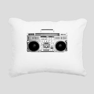 80s, Boombox Rectangular Canvas Pillow