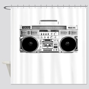 80s, Boombox Shower Curtain