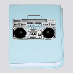 80s, Boombox baby blanket