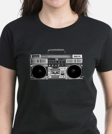 80s, Boombox Women's Dark T-Shirt