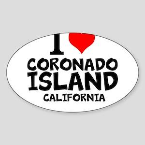 I Love Coronado Island, California Sticker