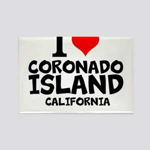 I Love Coronado Island, California Magnets