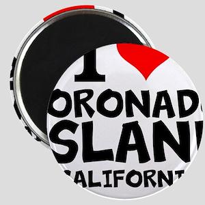 I Love Coronado Island, California Magnets