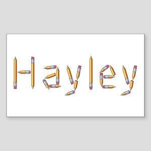 Hayley Pencils Rectangle Sticker