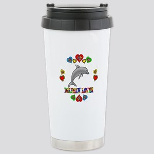 Dolphin Lover Stainless Steel Travel Mug