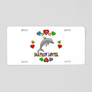 Dolphin Lover Aluminum License Plate