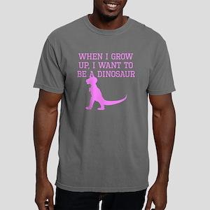 I Want To Be A Dinosaur Mens Comfort Colors Shirt