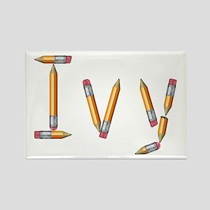 Ivy Pencils Rectangle Magnet