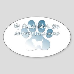 Affenpinscher Grandchildren Oval Sticker