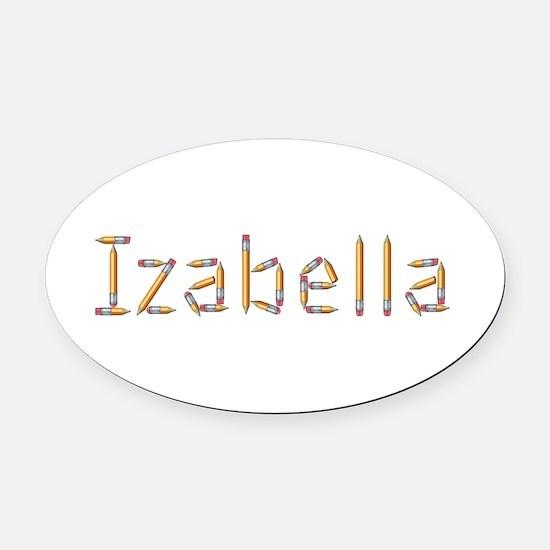 Izabella Pencils Oval Car Magnet