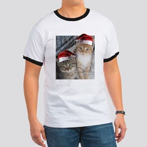 Christmas Tabby Cats Ringer T