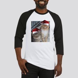Christmas Tabby Cats Baseball Jersey