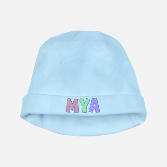 Mya Rainbow Pastel baby hat