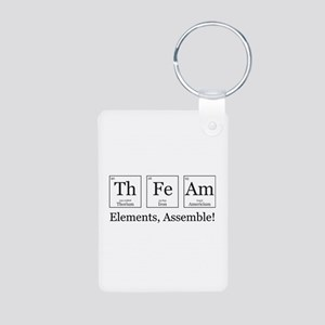 Elements, Assemble! Aluminum Photo Keychain