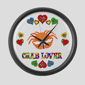 Crab Lover Large Wall Clock