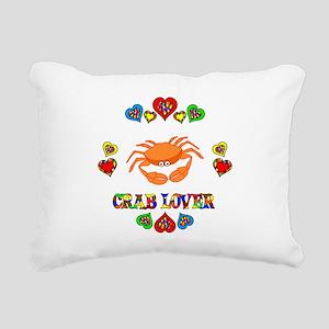 Crab Lover Rectangular Canvas Pillow