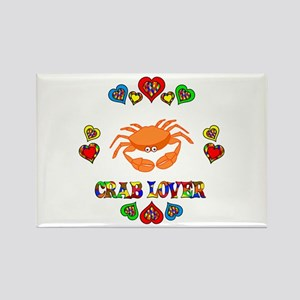 Crab Lover Rectangle Magnet