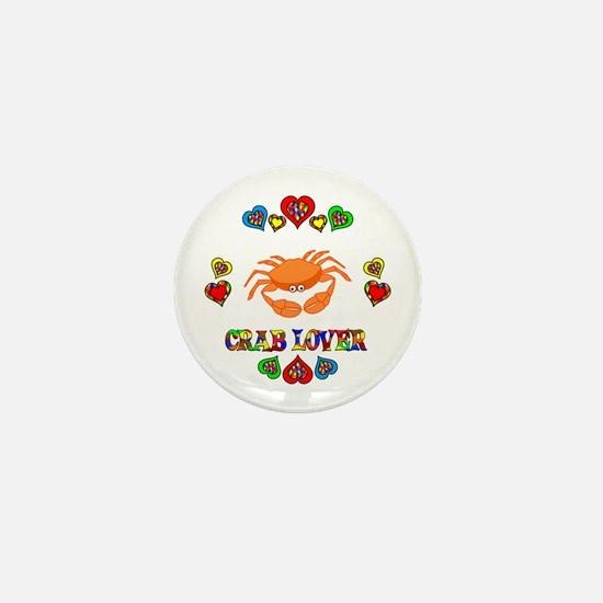 Crab Lover Mini Button