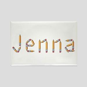 Jenna Pencils Rectangle Magnet