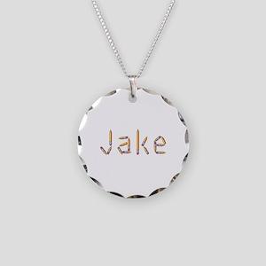 Jake Pencils Necklace Circle Charm