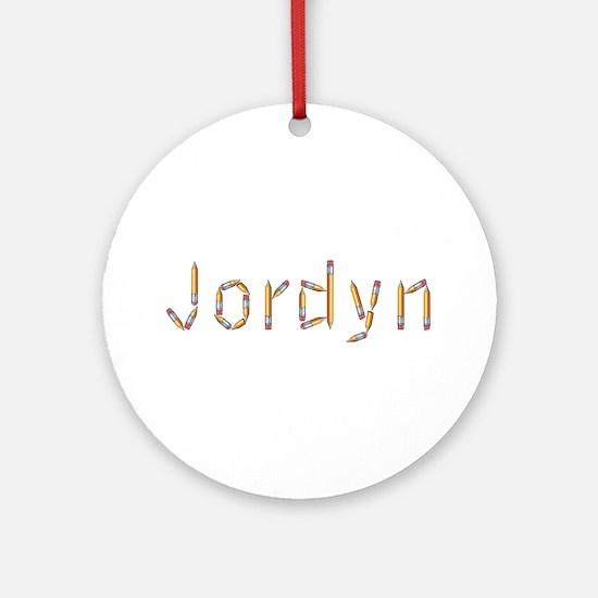 Jordyn Pencils Round Ornament