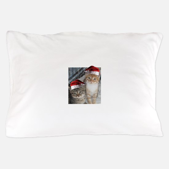 Christmas Tabby Cats Pillow Case
