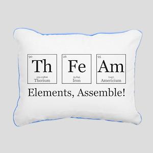 Elements, Assemble! Rectangular Canvas Pillow