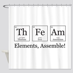 Elements, Assemble! Shower Curtain