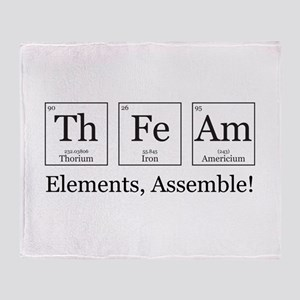 Elements, Assemble! Throw Blanket