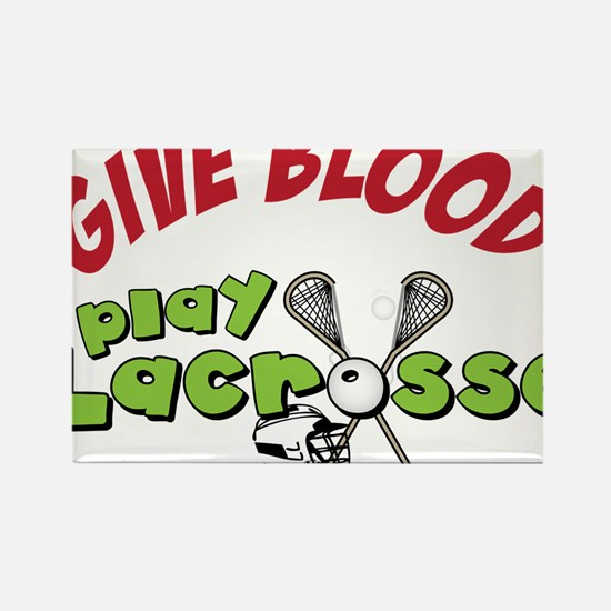 Play Lacrosse Rectangle Magnet