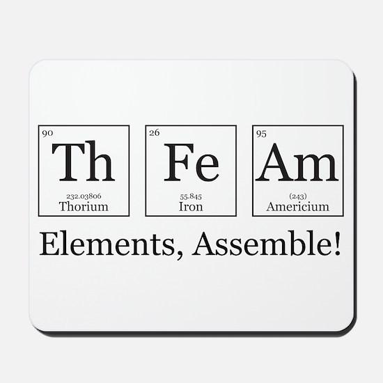 Elements, Assemble! Mousepad