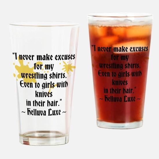 Nicks Wrestling Shirt Drinking Glass