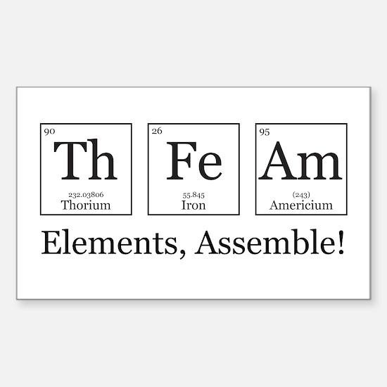 Elements, Assemble! Sticker (Rectangle)