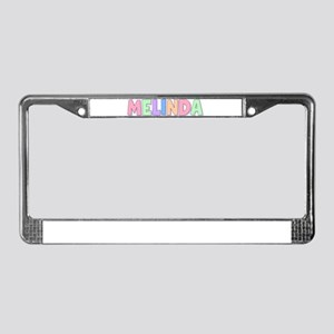 Melinda Rainbow Pastel License Plate Frame