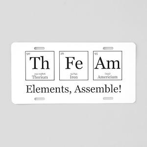 Elements, Assemble! Aluminum License Plate