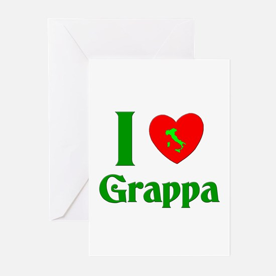 I Love Grappa Greeting Cards (Pk of 10)