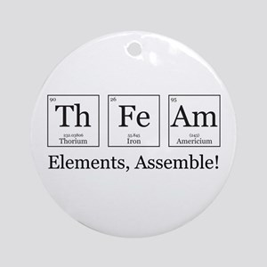 Elements, Assemble! Ornament (Round)