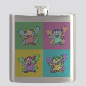 Flutterby Pop Art Square Flask