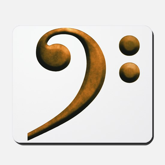 Gold bass clef Mousepad