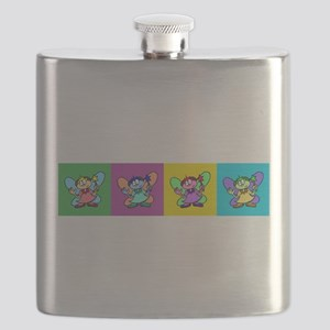 Flutterby Pop Art Strip Flask